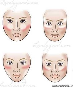 Secrets to contouring and highlighting based on face shape
