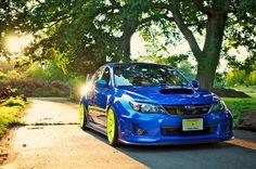 Subaru Impreza WRX STi in its classic rally-like colors