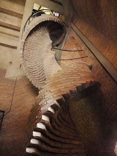 BRICK! - Spiral staircase to the carillion of the Dutch Reformed Church of IJsselstein.