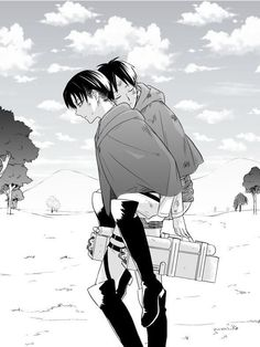 Eren x levi>>>>I don't ship this but this is so cute!