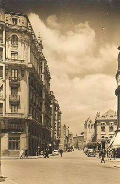 León, fotos antiguas, calle de Ramón y Cajal, década de 1950