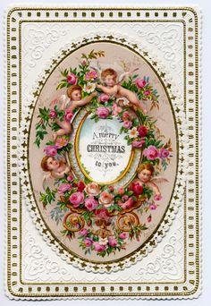 Victorian Christmas Cherubs