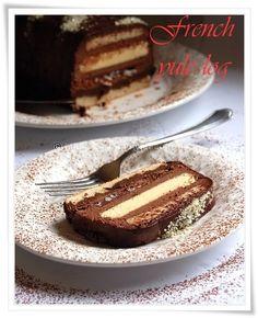 Daquoise...creme brulee, praline, ganache and chocolate mousse cake