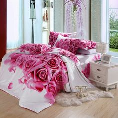 Roses Bedding Roses Bedding Pink Rose Flowers Full An Queen Bedding On Most Beautiful Bedspreads Gorgeous Red Comforters Rose Pink Bedding And Curtains Light Pink Bedding, Pink And Grey Bedding, Bedroom Comforter Sets, Paisley Bedding, Blue Bedding Sets, Cheap Bedding Sets, Linen Bedding, 3d Bedding, Affordable Bedding
