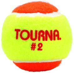 Tourna Stage 2 Quickstart Tennis Balls Orange Yellow - 3 pack
