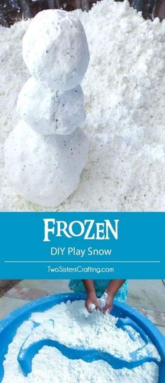 frozen birthday party ideas Disney Frozen DIY Play Snow for a Do You Want to Build a Snowman activity at a Frozen Birthday Party. Its so easy to make, felt just like snow and we have all the directions right here. us for more fun Frozen Party Ideas. Elsa Birthday Party, Birthday Party Games For Kids, Winter Birthday Parties, Birthday Crafts, Birthday Ideas, Olaf Party, Third Birthday, Kids Bday Party Ideas, Snowman Birthday Parties