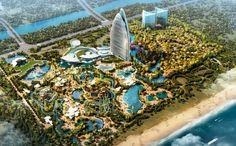 Hainan Island, China will be the location of the first Atlantis resort in China. The room resort will be on Haitang Bay, located in Sanya on the island's southern tip. Dubai Resorts, Destin Resorts, Hotels And Resorts, Best Hotels, Sanya, Tianjin, In China, Royal Atlantis, Shanghai