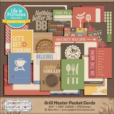 LIP Cards: Grill Master - $6.00 : Peppermint Creative, Digital Scrapbook Supplies