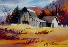 "loose watercolors | watercolor, landscape, 5"" x 7"", $50 matted"