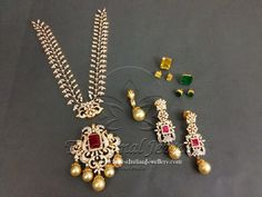 3 in 1 Diamond Necklace - Indian Jewellery Designs Diamond Earrings Indian, Diamond Necklace Set, Diamond Pendant, Diamond Jewelry, Gold Jewelry, Diamond Jhumkas, Gold Necklace, Short Necklace, Statement Jewelry