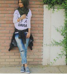 teen girl hijabi fashion #trendy #Hijabistyle