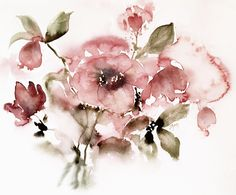 Christmas rose by June Rydgren. Watercolour on Arches cold press, 31 x 41 cm. All rights reserved. junesgarden.se