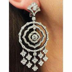 Ear Jewelry, Jewelery, Fine Jewelry, Diamond Hoop Earrings, Women's Earrings, Diamond Jewellery, Hanging Earrings, Chandelier Earrings, New Fashion Earrings