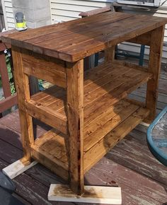 Rustic Kitchen Island with Storage by OliversHandmadeShop on Etsy