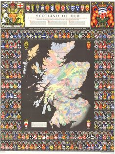Clan Map of Scotland Related: The Clans of Scotland, with Lowland & Highland divisions