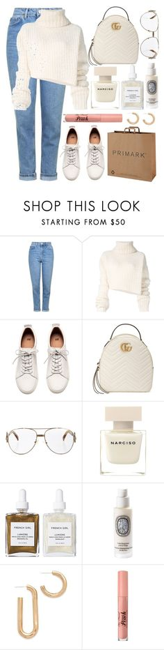 """""""🐇"""" by fashioneex ❤ liked on Polyvore featuring Topshop, Ann Demeulemeester, H&M, Gucci, Fendi, Narciso Rodriguez, French Girl, Diptyque and Pamela Love"""