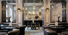 The Connaught bar at The Connaught hotel, London. Interior Design by the late David Collins David Collins, Luxury Restaurant, Restaurant Design, Restaurant Bar, Restaurant Offers, Classic Restaurant, Restaurant Lighting, Commercial Design, Commercial Interiors