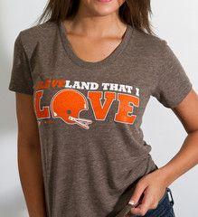 Womens Land That I LOVE - Cleveland Helmet-Coffee