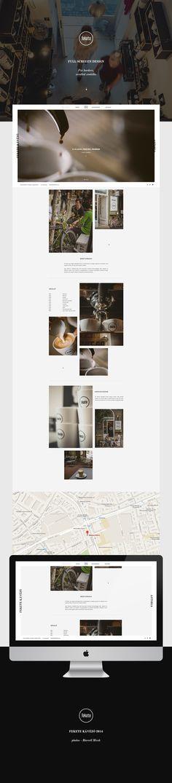 Fekete kávézó - Webdesign
