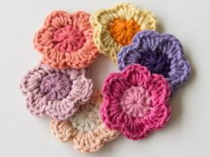 How to Crochet a Flower #freecrochetpattern #stashbuster   Wink for Tuts+