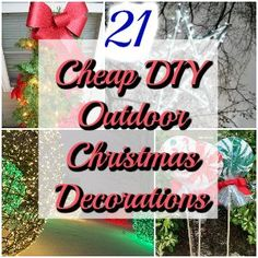 Easy Outdoor Christmas Decorating.Pinterest