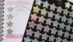 Silver Star Hologram Stickers