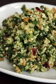 Kale Quinoa Salad with Dried Cranberries and Sunflower Seeds