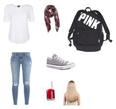 """School"" by explorer-14388923191 on Polyvore featuring Frame Denim, Topshop, Sole Society, Converse, Victoria's Secret, Essie and Extension Professional"