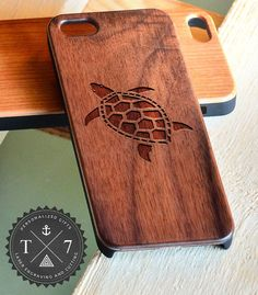 Turtle A104 Wooden iPhone 4/4s iPhone 5/5s case walnut by StudioT7, $19.99