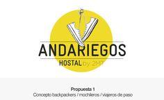 Boceto logotipo backpackers - hostel Chevrolet Logo, Logos, Sketch, Logo