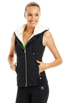 Lorna Jane | Sleeveless Aviator Jacket vest