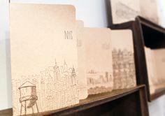 Albertine Press 2013 Around The World notebooks - display at NYIGF Winter 2013 Exhibitors via Oh So Beautiful Paper http://albertinepress.com/