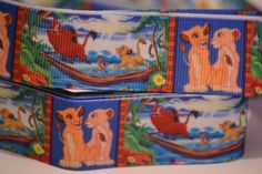 Lion King Ribbon, 5 yards, 7/8 inch wide, Red white and blue ribbon, Hair bow ribbon, Scrapbook ribbon, Grosgrain ribbon by LusterClusterHairbow on Etsy
