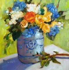 """""""Chinoiserie"""" original fine art by Libby Anderson"""