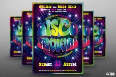 Saturday Night Fever Disco Flyer Template Psd Design  Saturday