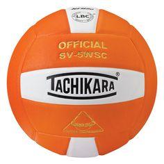 Tachikara Official SV5WSC Microfiber Composite Leather Volleyball, Orange
