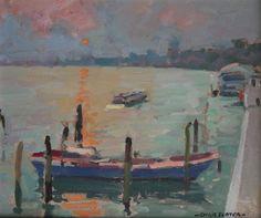 Christopher Slater. Original oil painting on panel. For Sale.