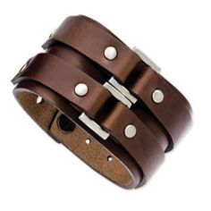 Men's Leather Bracelets Leather Bracelets For Men Leather Cuff from Gemologica, A Fine Online Jewelry Store