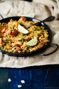 Paella With Veggies, Chicken and Chorizo