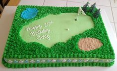 Sheet Cake Fairway Golf Theme