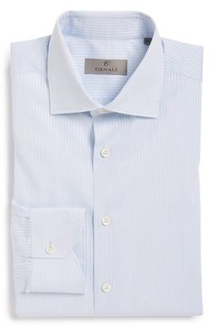 Men's Canali Regular Fit Check Dress Shirt