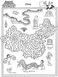 Free maze from World of Mazes Book - China