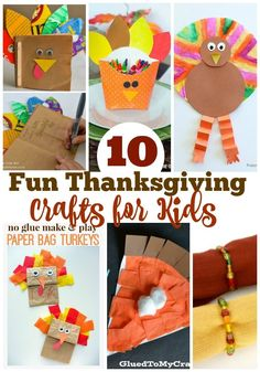 10 Fun Thanksgiving Crafts For Kids via @resincraftsblog