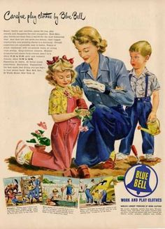 Exceptionnel Blue Bell Clothing Gardening Mom Girl Ad T (1949)