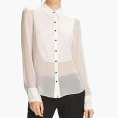 Spotted while shopping on Poshmark: Elizabeth and James Ivory Charlie Tux Shirt L NWT! #poshmark #fashion #shopping #style #Elizabeth and James #Tops