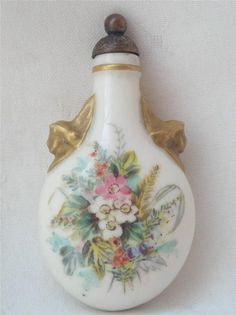 ANTIQUE UNMARKED ROYAL WORCESTER PERFUME SCENT BOTTLE CIRCA 1900