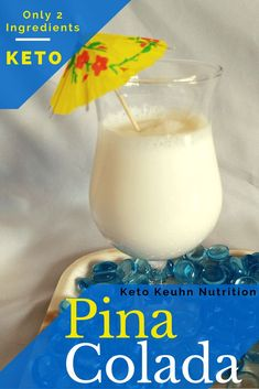 This low carb keto pina colada recipe uses a bai drink making it easy non alcholic drink recipe. There's only 2 ingredients to make it super simple to be taken away to a tropical island. Give this smooth drink a try. This low carb k Low Carb Cocktails, Alcoholic Drinks On Keto, Liquor Drinks, Healthy Drinks, Ketogenic Recipes, Ketogenic Diet, Banting Recipes, Keto Foods, Healthy Foods