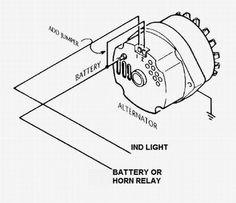 3 wire alternator wiring diagram google search alternat r rh pinterest com
