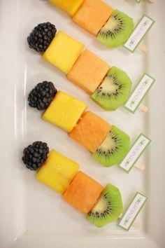 fruit kabobs~very practical :)