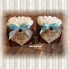 Fa dobozkában vannak ezek a dekoratív habrózsák, személyreszóló , megható szövegek kerülnek az oldalára a szeretett szülőknek. Fa, Gift Wrapping, Gifts, Gift Wrapping Paper, Presents, Wrapping Gifts, Favors, Gift Packaging, Gift